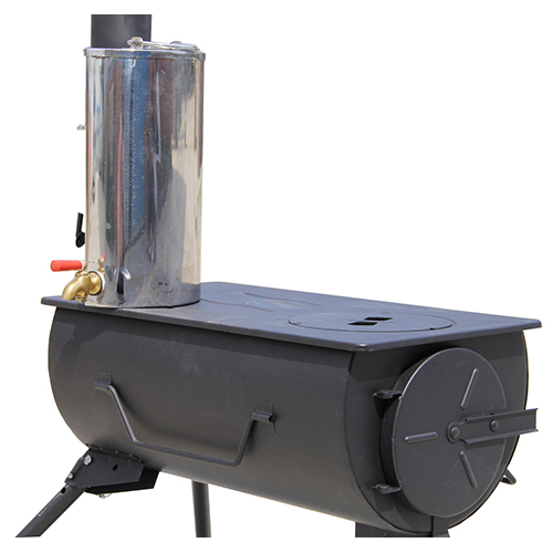 NJ Comfort Wood Burning Stove Grill Heater Camping 2L Water Heater
