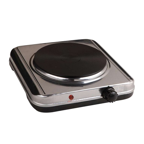 Electric Solid Hot Plate Portable Single Hob Stainless Steel Cooker