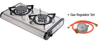 New Mini S Gas Stove Cooker 2 Burner Portable Camp Indoor