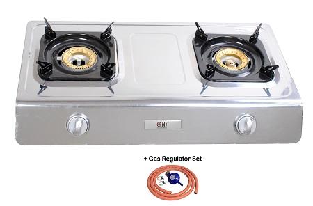 New nsd2 gas stove cooker 2 burner camp indoor caravan lpg for Portable indoor wood stove