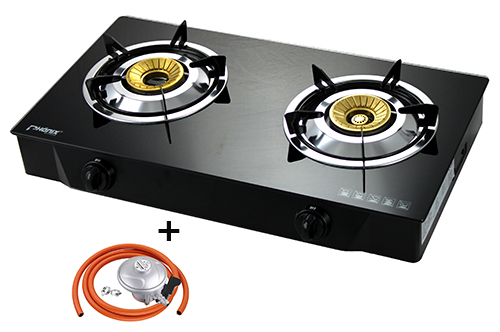 Gas stove cooker 2 burner portable cooktop hob indoor caravan lpg ps 2 - Plaque gaz 2 feux ikea ...