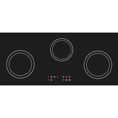 ... Induction Hob 78cm 3 Cooking Zone Cooktop Ceramic Glass Touch  Control ...