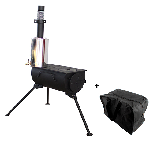 Frontier Wood Stove Camping Burning.jpg ... - Frontier Portable Wood Burning Stove With Water Heater Camping