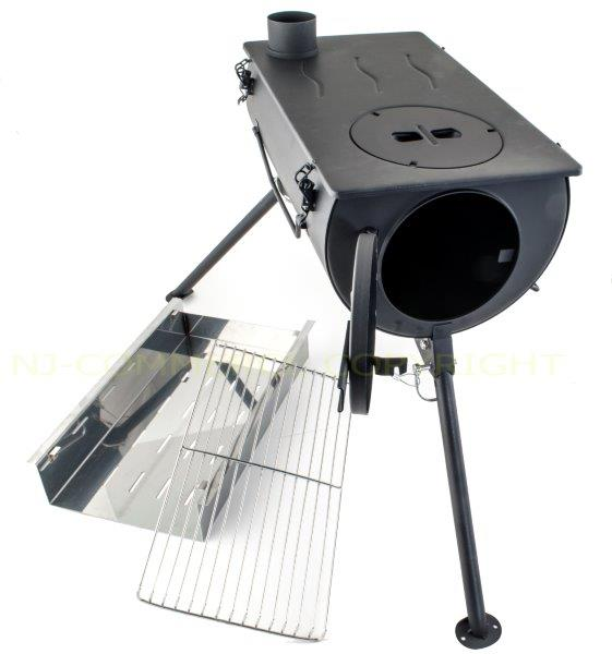Frontier Wood Burning Stove Grill BBQ Portable Cooker ...