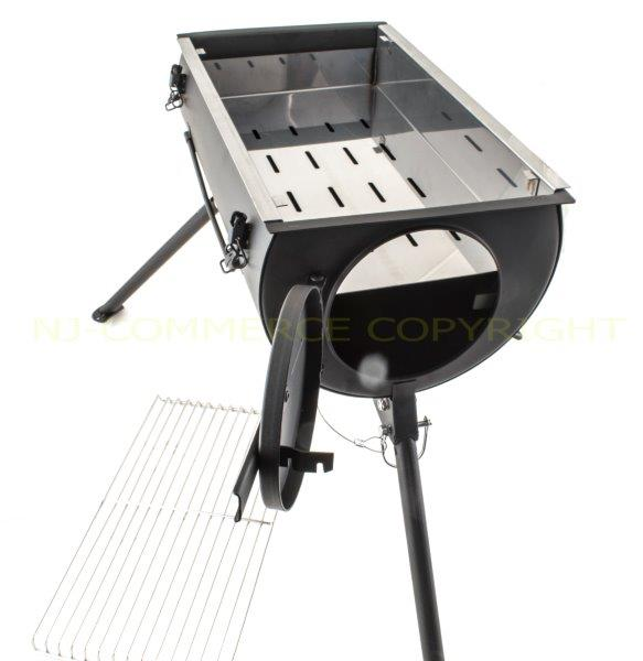 Wood Stove Griddle ~ Frontier wood burning stove grill bbq portable cooker