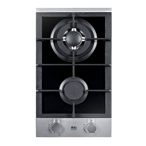 Domino 302g Built In Gas Hob 2 Burners 30cm Black Glass