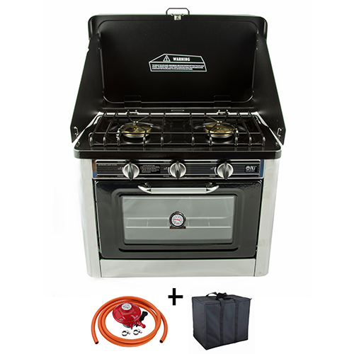 Camping Gas Oven Portable Stainles Steel Outdoor Caravan 2 ...