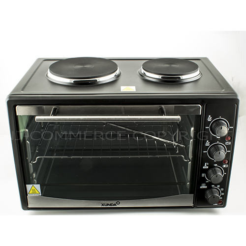 Mini Convection Oven Electric Grill Hob Rotisserie 2 Hot